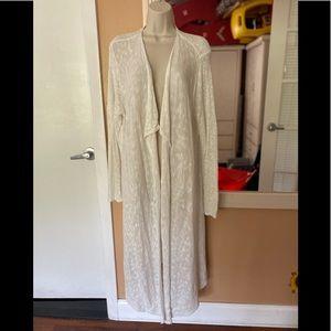 Jones New York full length cotton blend duster!!